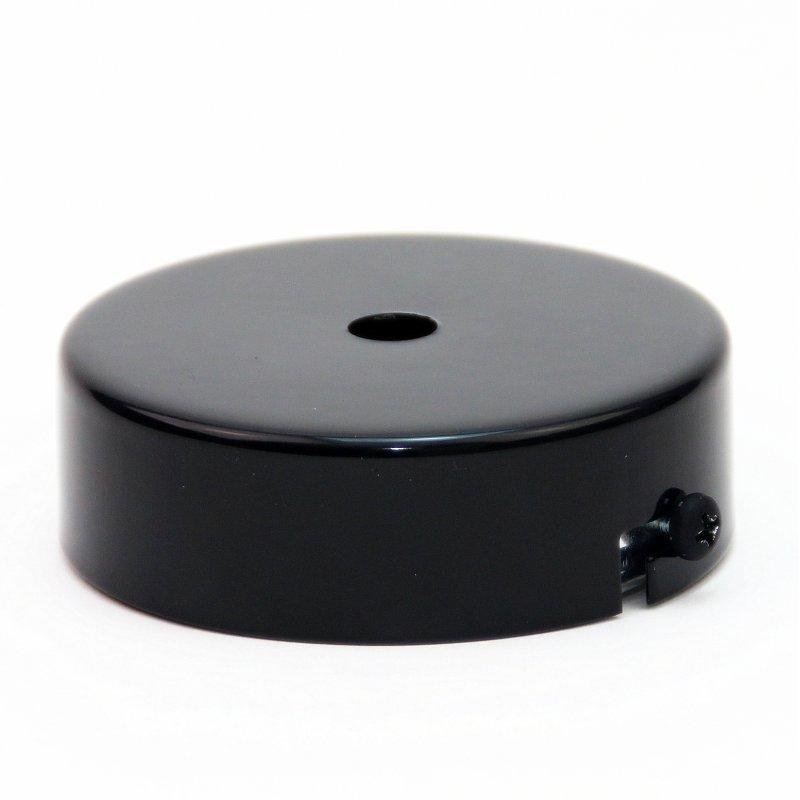 lampen leuchten metall baldachin 80x25mm schwarz lackiert. Black Bedroom Furniture Sets. Home Design Ideas