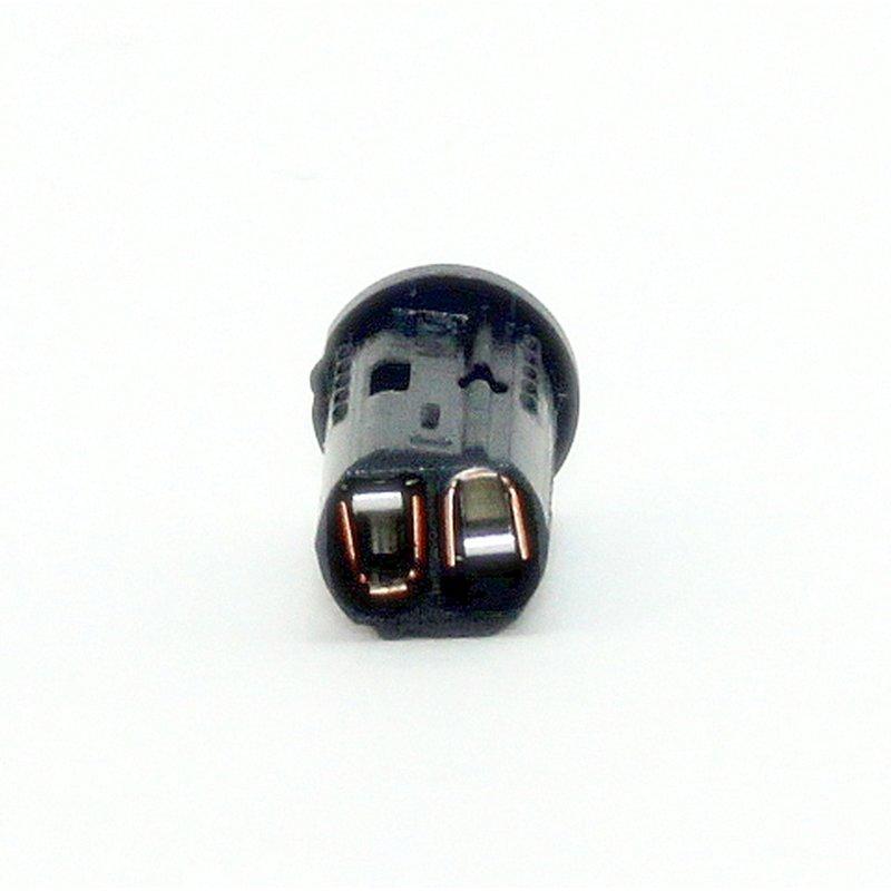 12v niedervolt g4 mini halogen fassung schwarz mit doppelsteckkontakt. Black Bedroom Furniture Sets. Home Design Ideas