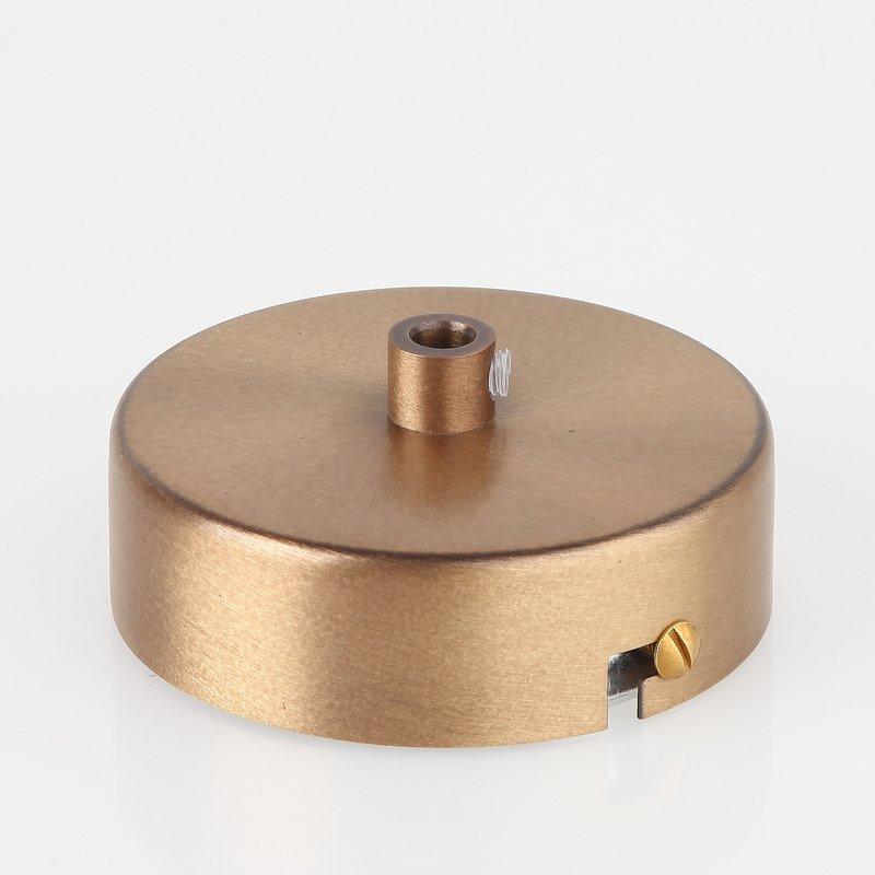 Lampen metall baldachin 80x25mm antik fume f r 1 for Lampen antik
