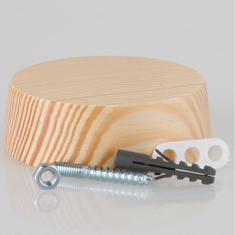 lampen baldachin holz kiefer 85x28 mm mit zubeh r set 4. Black Bedroom Furniture Sets. Home Design Ideas
