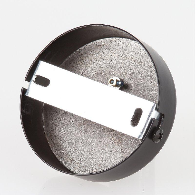 lampen metall baldachin 80x25mm schwarz f r 1 lampenpendel. Black Bedroom Furniture Sets. Home Design Ideas