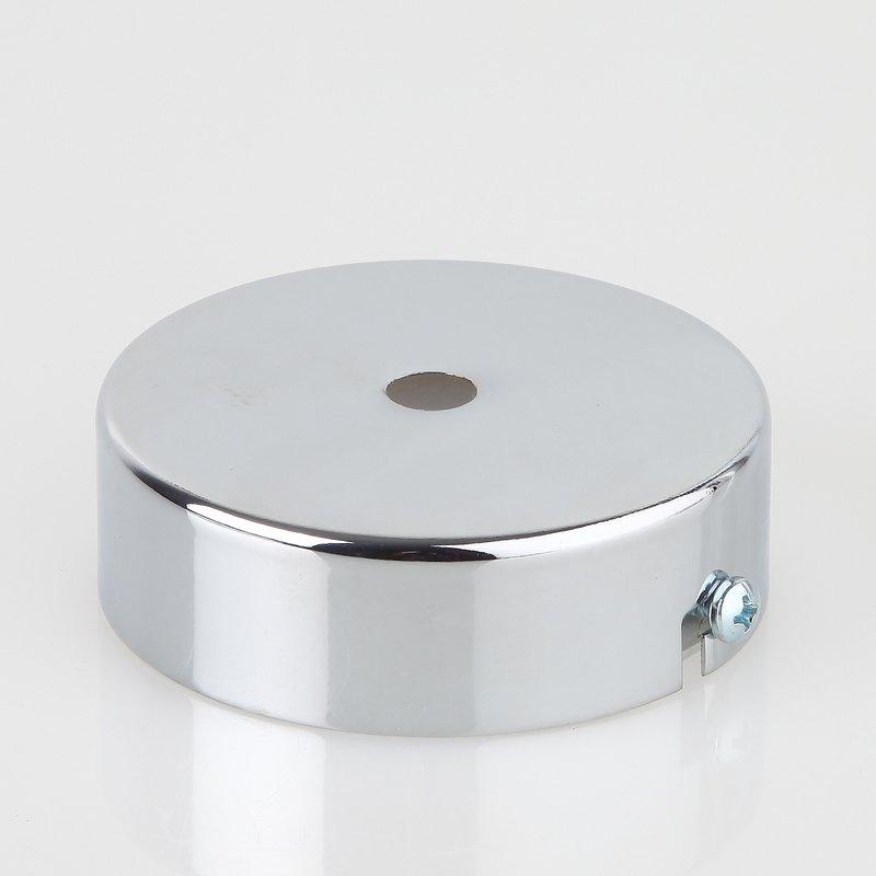 lampen metall baldachin 80x25mm verchromt f r 1 lampenpendel ohn. Black Bedroom Furniture Sets. Home Design Ideas