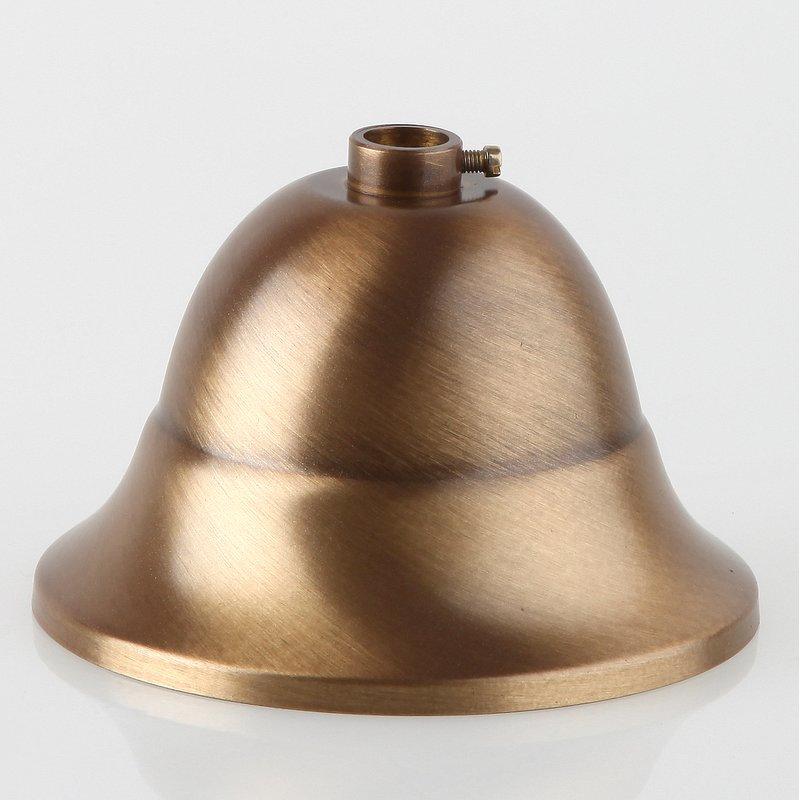 Kuppelscheibe Abschlußscheibe Metall vermessingt Durchmesser 65 mm