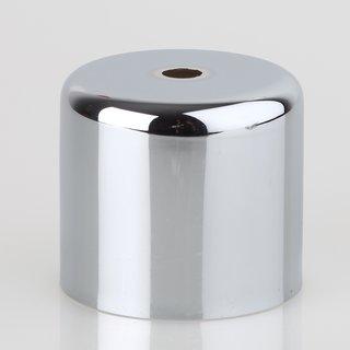 Lampen Baldachin 62x63mm Metall Verchromt Zylinderform Ohne