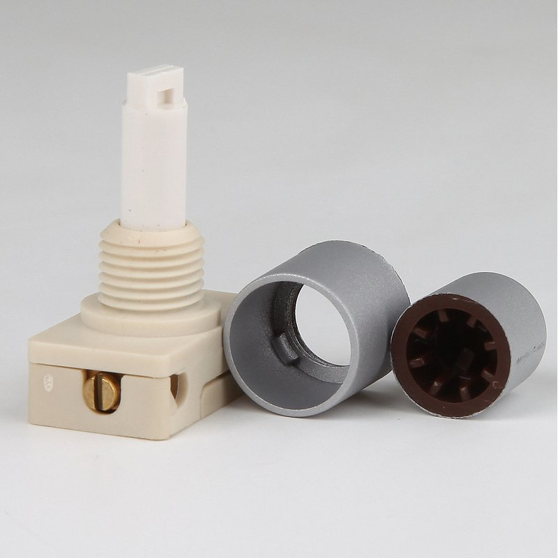 lampen einbauschalter einbau druckschalter silber 250v 2a mit spezia. Black Bedroom Furniture Sets. Home Design Ideas