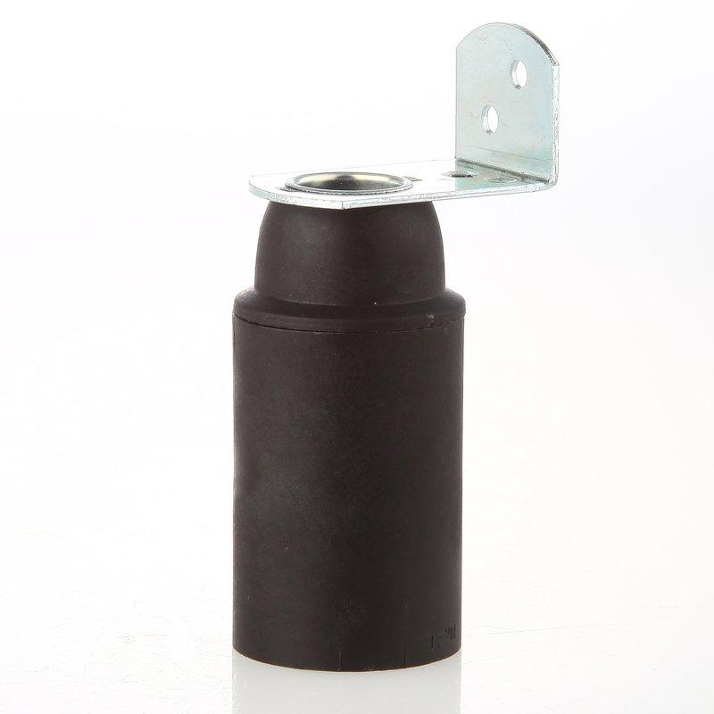 e14 thermoplast fassung schwarz ohne au engewinde mit metall winkel 2 15. Black Bedroom Furniture Sets. Home Design Ideas