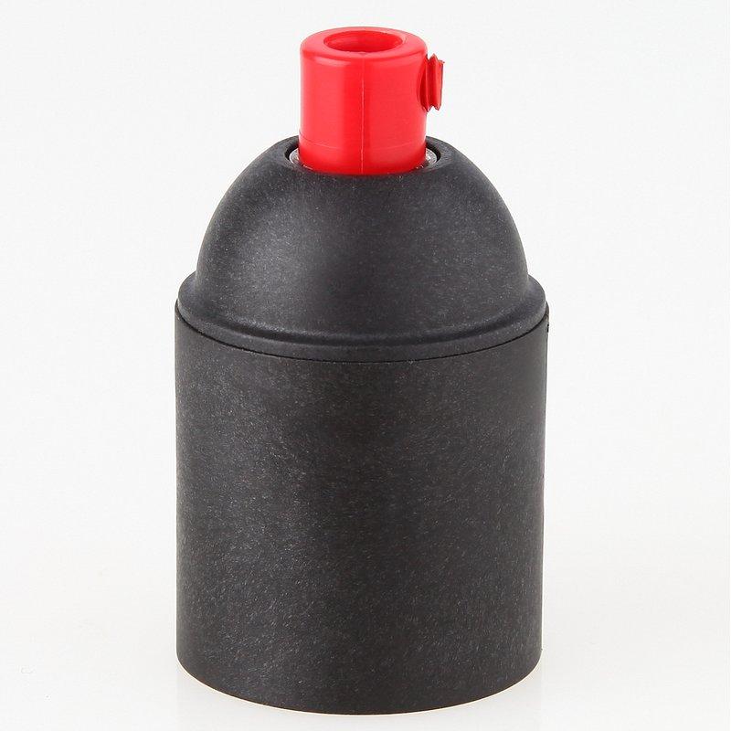 e27 kunststoff fassung schwarz ohne au engewinde mit zugentlaster rot 2 80. Black Bedroom Furniture Sets. Home Design Ideas