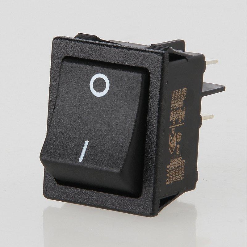 wippschalter schwarz 2 polig 30x22 mm 250v 16a 3 95. Black Bedroom Furniture Sets. Home Design Ideas
