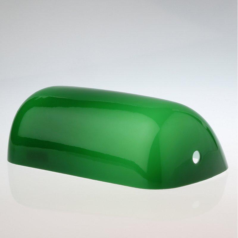 lampen ersatzglas gr n gl nzend l225xb130 mm f r bankers tischleuchte 28 95. Black Bedroom Furniture Sets. Home Design Ideas
