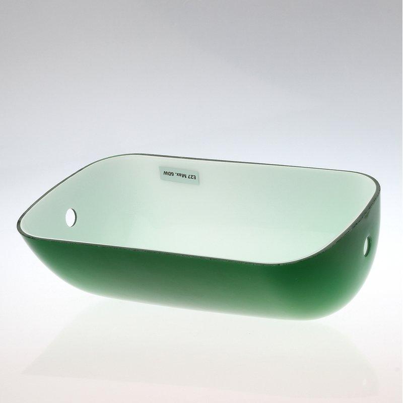 lampen ersatzglas gr n gl nzend l225xb130 mm f r banke. Black Bedroom Furniture Sets. Home Design Ideas