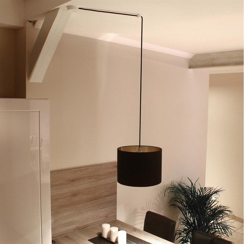 lampen distanz aufh nger affenschaukel schwarz 1 35. Black Bedroom Furniture Sets. Home Design Ideas