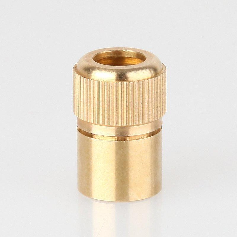 Klemmnippel Zugentlaster  M10x1 Innenngewinde Zugentlastung Kunststoff gold weiß