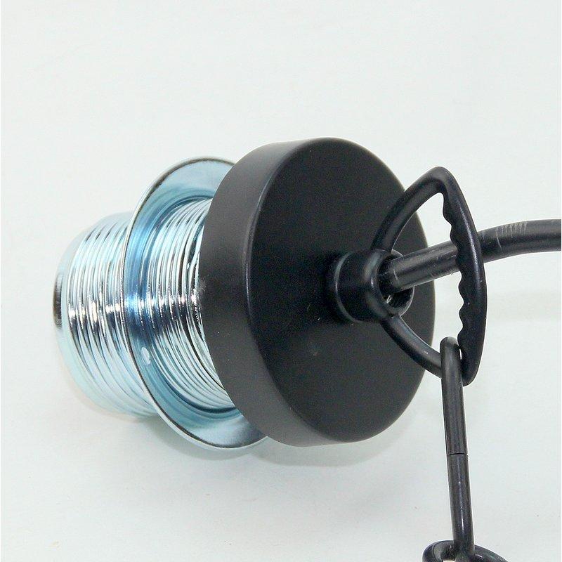 e27 lampen kettenpendel schwarz 1m lang mit metall baldachin tulpenfo. Black Bedroom Furniture Sets. Home Design Ideas