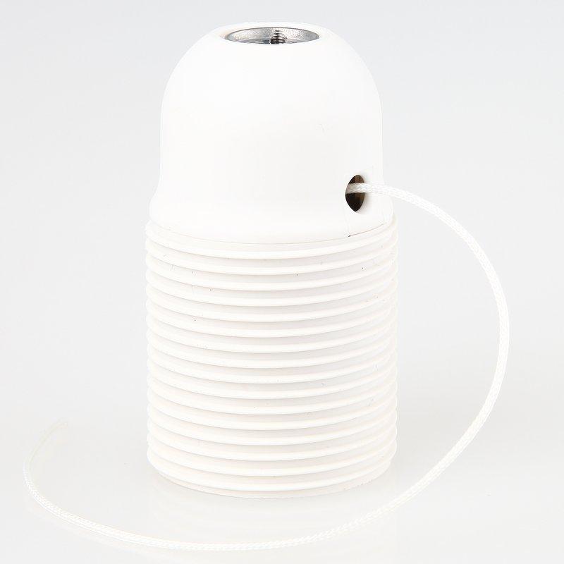 e27 lampenfassung kunststoff wei mit zugschalter und au. Black Bedroom Furniture Sets. Home Design Ideas